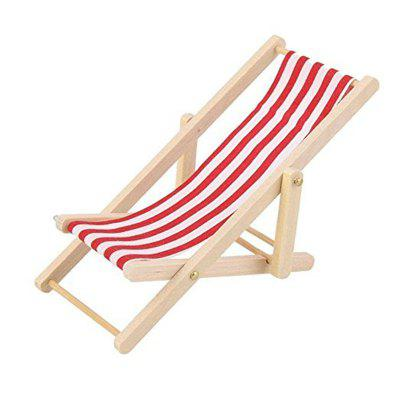 Mini Furniture Model Finished Stripe Wooden Deck Chair 4848 Free Enchanting Shipping Furniture Model