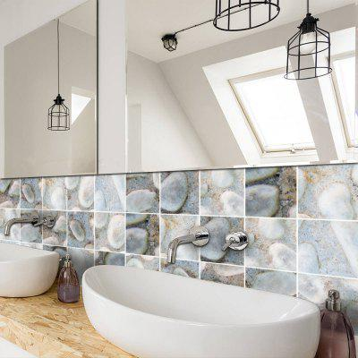 3d Gobblestone Shape Tile Sticker Home Decoration For Kicken Bathroom