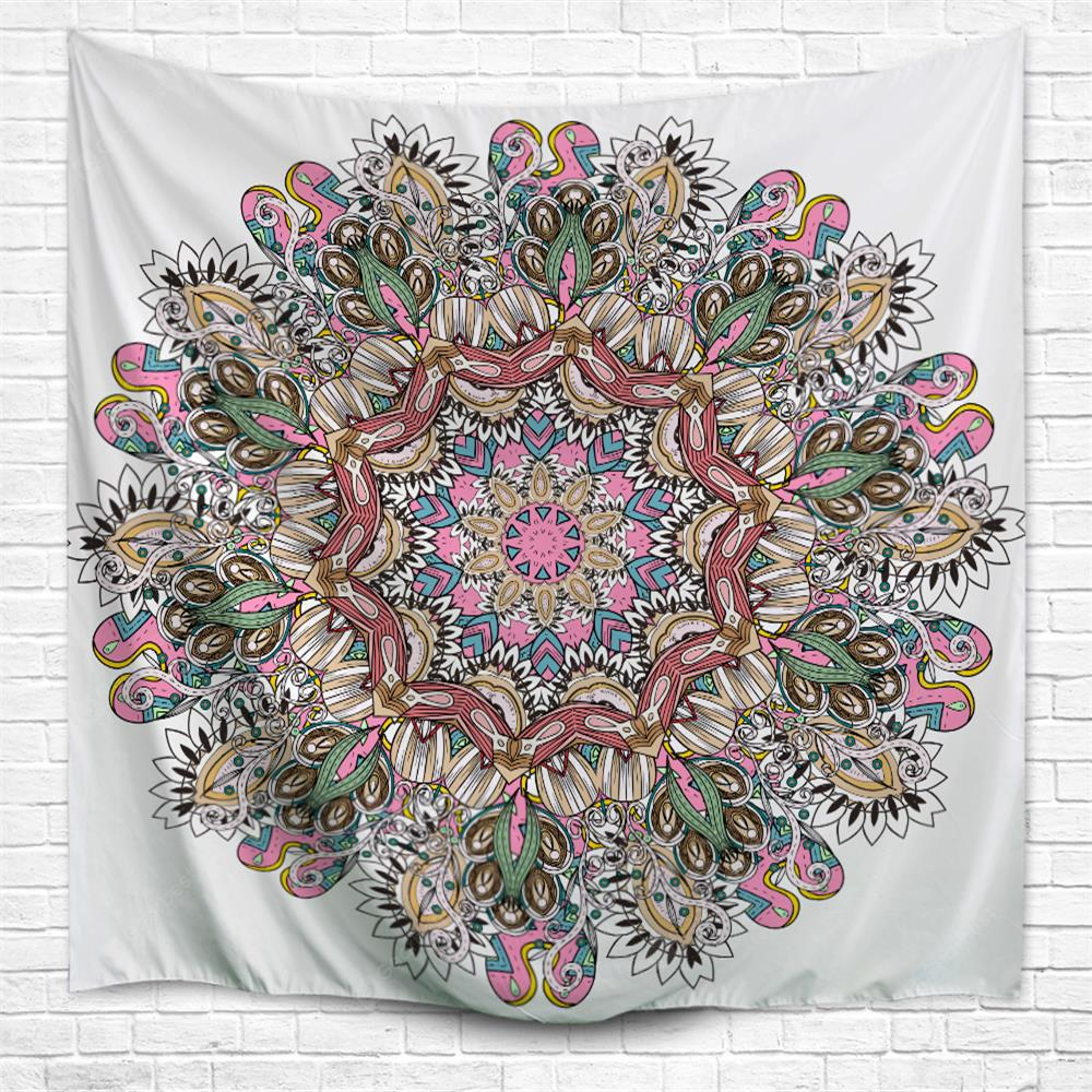 Colorful Datura 3D Printing Home Wall Hanging Tapestry for Decoration