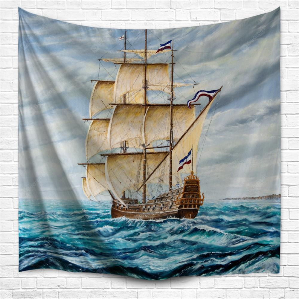 Riding The Waves 3D Printing Home Wall Hanging Tapestry for Decoration