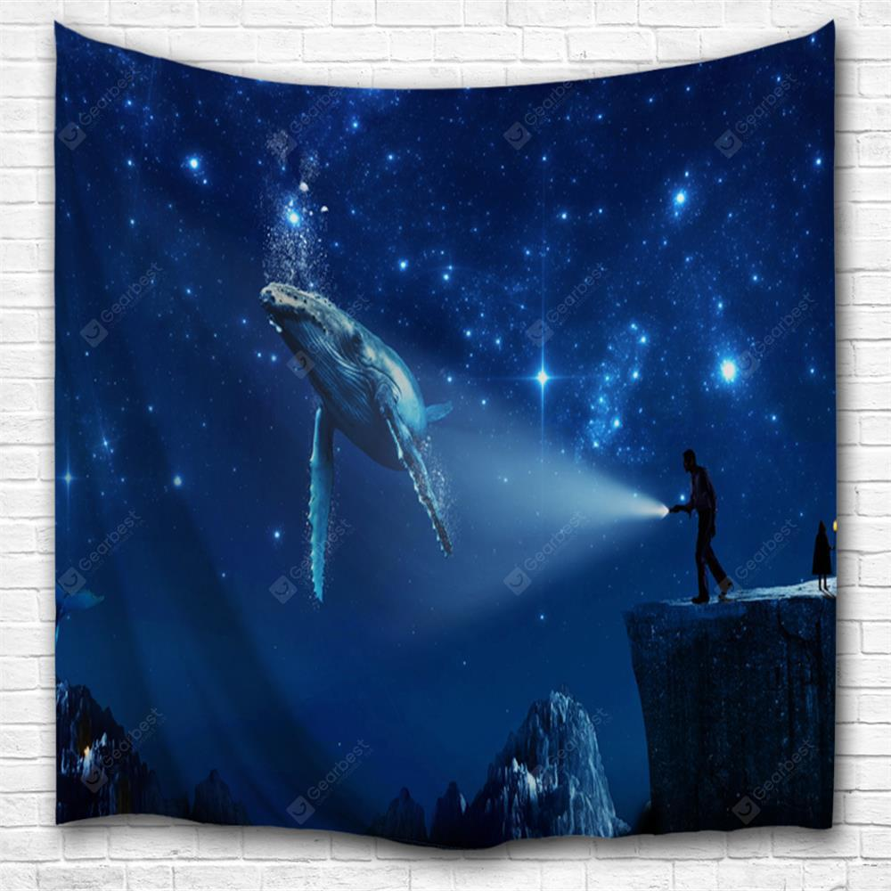 Space Shark 3D Printing Home Wall Hanging Tapestry for Decoration