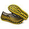 Summer Men Outdoor Leisure Solid Color Hollow Beach Sandals - YELLOW