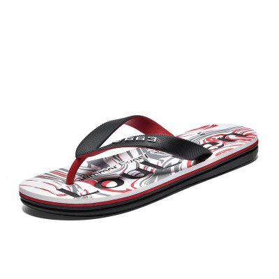 High Quality Men'S Summer Outdoor Casual Beach Alphabet Flip Flops