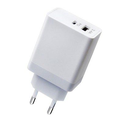 Type-C PD-lader USB-lichtnetadapter Snelle lading voor iPhone X / Samsung