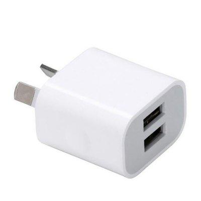 Universal  5V 2A Dual USB AU Plug Mini Portable Travel Phone Charger Adapter