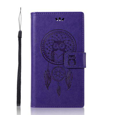 Wind Bell Owl For Sony Xperia L2 Phone Case PU Fashion Flip Leather Wallet Cover