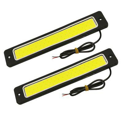 2 PCS DC 12 V 7.48 Polegadas 60 W 6000LM COB CAN-bus LED DRL Branco