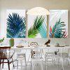 W234 Leaves Unframed Art Wall Canvas Prints for Home Decorations 3 PCS - MULTI-A