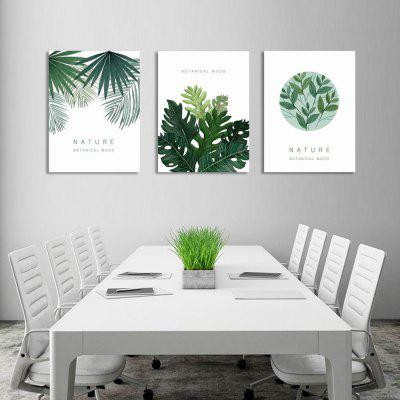 W236 Leaves Unframed Art Wall Canvas Prints for Home Decorations 3 PCS