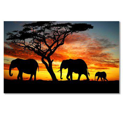 W239 Elephants Unframed Art Wall Canvas Prints for Home Decorations