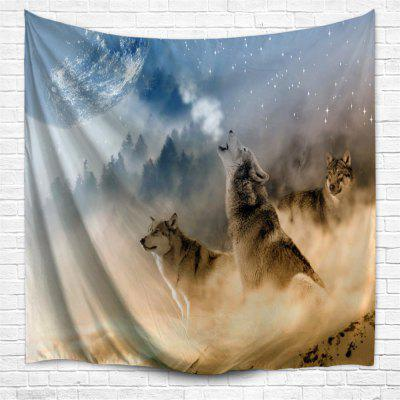 Domineering Wolf 3D Printing Home Wall Hanging Tapestry for Decoration