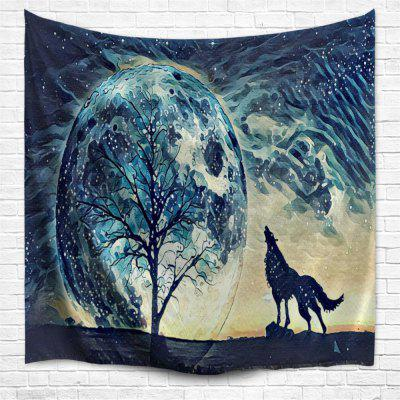 Hand Painted Wolf 3D Printing Home Wall Hanging Tapestry for Decoration