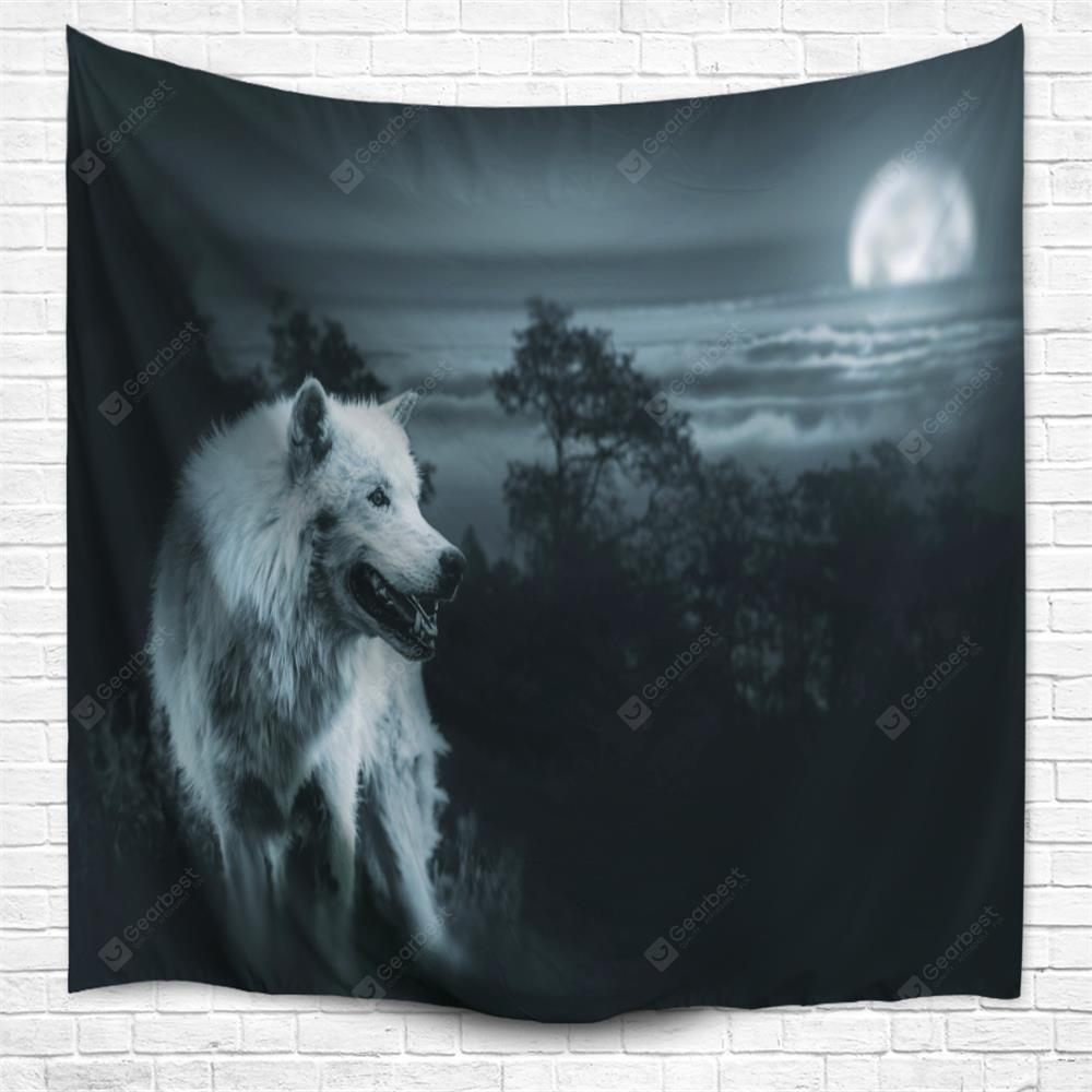 Wilderness Wolf 3D Printing Home Wall Hanging Tapestry for Decoration