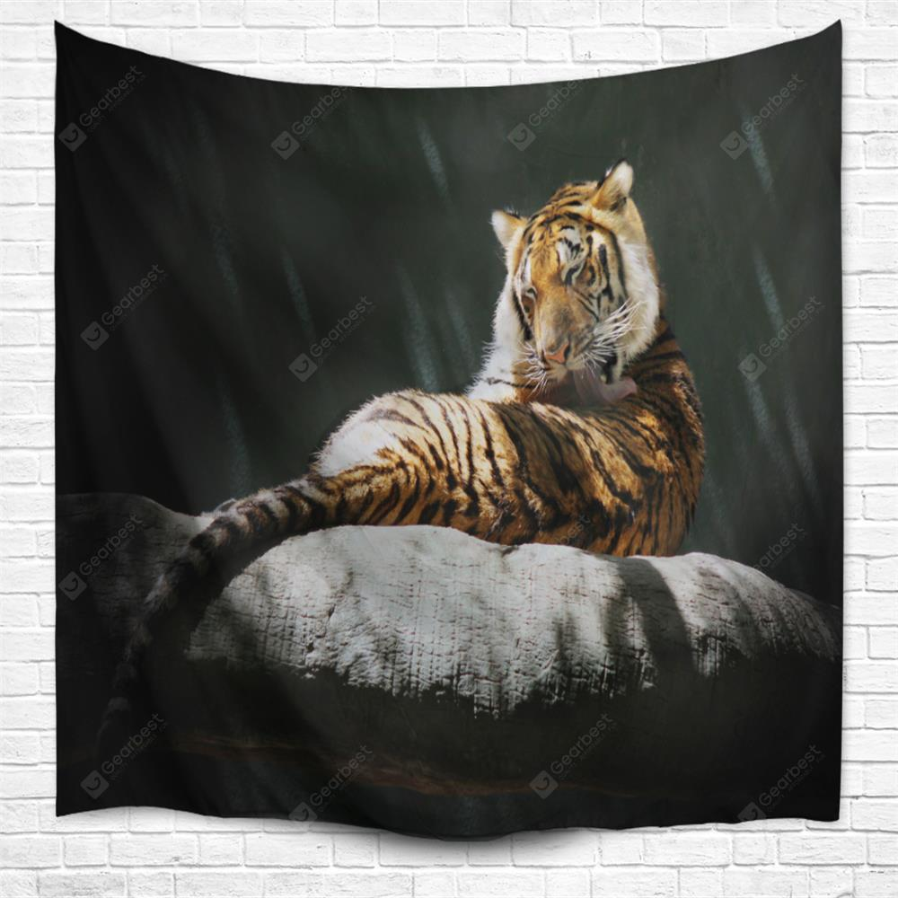 Lying Tiger 3D Printing Home Wall Hanging Tapestry for Decoration
