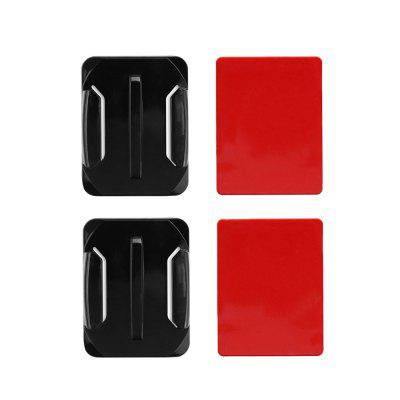 Curved Surface Base Mount and Adhesive Stickers for GoPro Hero 6 / 5 / H9 / Yi