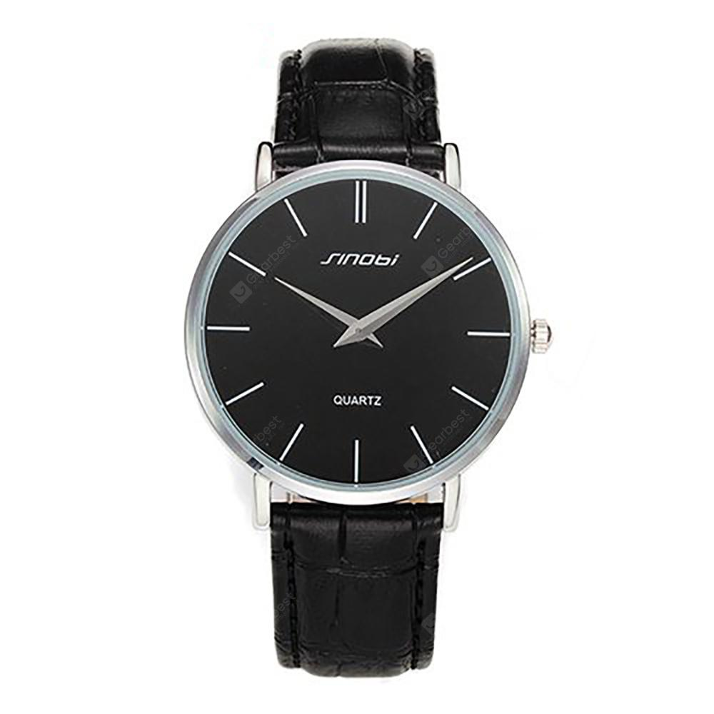 SINOBI 9140Men's Fashion Ultra-thin Quartz Waterproof Watch