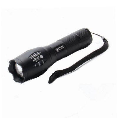 ZHISHUNJIA 103C CREE XML-T6 900lm 5-Mode LED White Zooming Flashlight - Black
