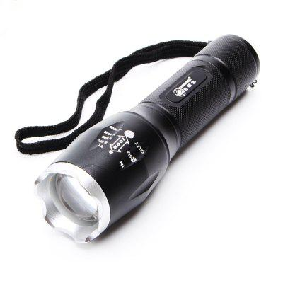 ZHISHUNJIA 103B CREE XML-T6 900lm 5-Mode LED White Zooming Flashlight - Black