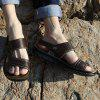 MUHUISEN Summer Beach Shoes Men Sandals Casual Slippers - DEEP BROWN