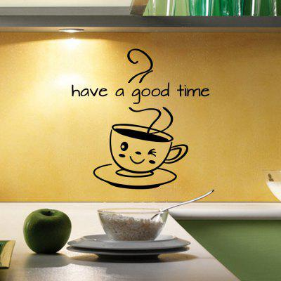 Coffee Have A Good Time Vinyl Decor Kitchen Decal Mural Removable Wall Stickers