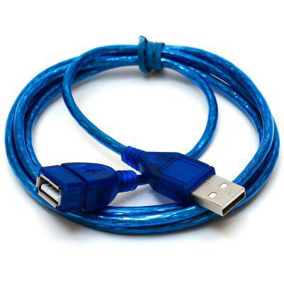 Blue 1m USB 2.0 Extension Cable Male to Female for Computer Extension
