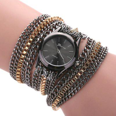 Hot Women Fashion Metal Chain Jewelry Watch