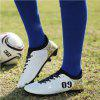 Men Professional Soccer Ankle Top Sport Training Outdoor Football Shoes - WHITE