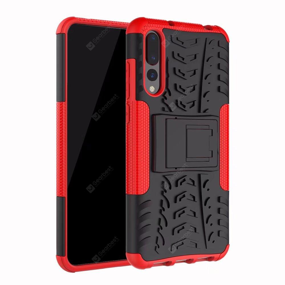 For Huawei P20 Pro Case Kickstand Swivel Full Body Rugged Bumper Armor Cover