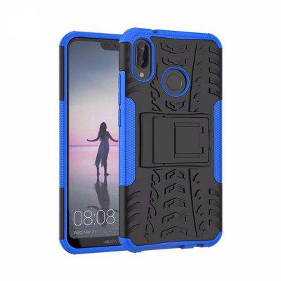 Voor Huawei P20 Lite Case Kickstand Swivel Full Body Rugged Bumper Armor Cover