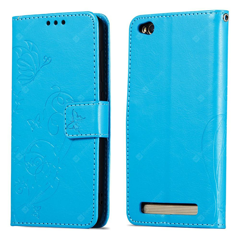 Embossed Flip Case for Xiaomi Redmi 5A PU Leahter Back Cover
