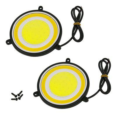 2PCS DC 12V 10W 3000K Super Fogproof Penetration 8.8CM Diameter Foglight Yellow