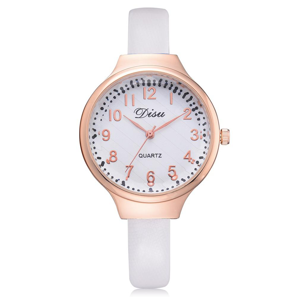 Disu DS060 Women Fashion PU Band Quartz Wrist Watch