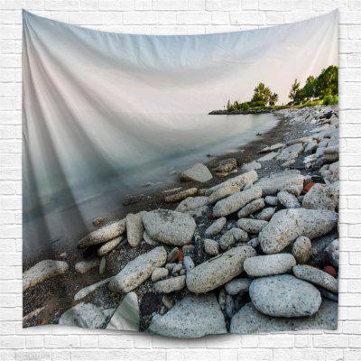 Lakeside Stone 3D Printing Home Wall Hanging Tapestry for Decoration