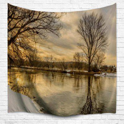 Sunset Dead Tree 3D Printing Home Wall Hanging Tapestry for Decoration