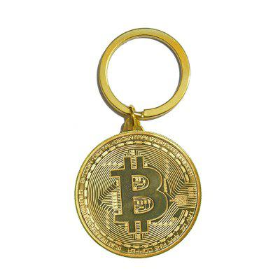 Bitcoin Key Chain Plated Cryptocurrency Gift