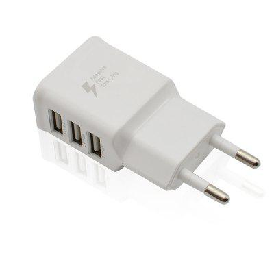 2A Ładowarka Smart Phone 3 USB Travel Quick Charge EU Plug