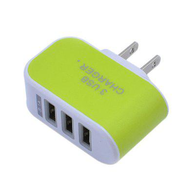 5V 3.1A Intelligent Travel Charger 3USB Candy Color