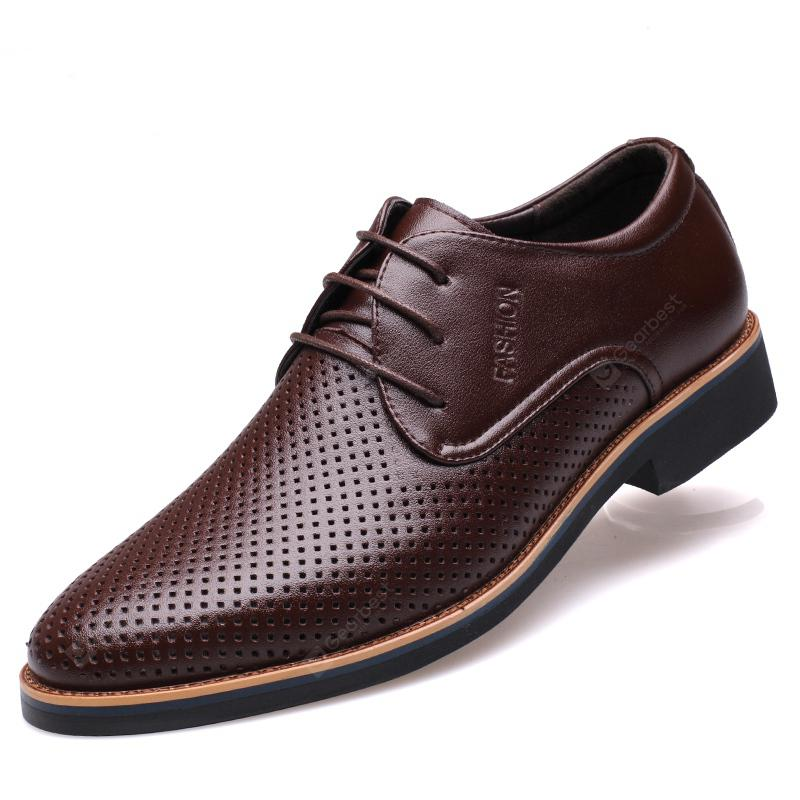Muhuisen Summer Men Dress Formal Breathable Male Shoes Casual Business Shoes for sale free shipping IfKzgF
