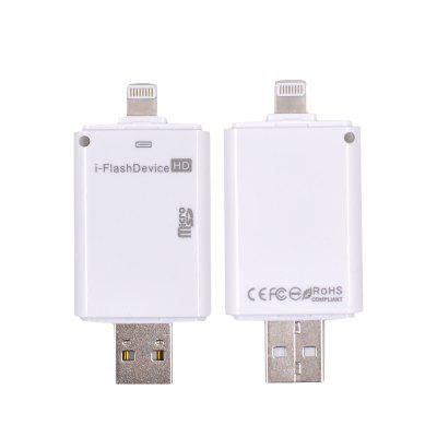 Hot I-Flash HD Driver U-Disk 8 Pin for iPhone Interface Micro USB Flash Drive