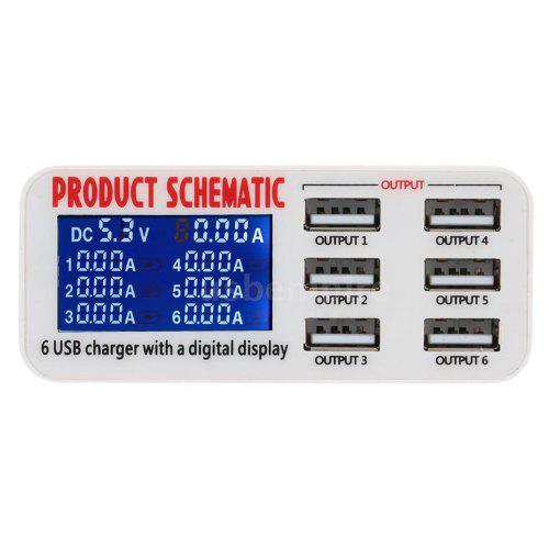 USB Hub Desktop Phone Charger 6 Ports 6A Adapter Multi Port European Usb Hub Schematic on usb to serial schematic, usb headset schematic, usb hub board, usb cable schematic, usb splitter schematic, usb circuit, usb 2.0 schematic, usb oscilloscope schematic, usb connector schematic, usb hub chip, usb hub wiring, usb charger schematic, usb hub drawing, usb hub receiver, usb 3 hub, usb hub voltage, usb hub pcb, usb hub cad, usb type a schematic, usb phone charger wire diagram,