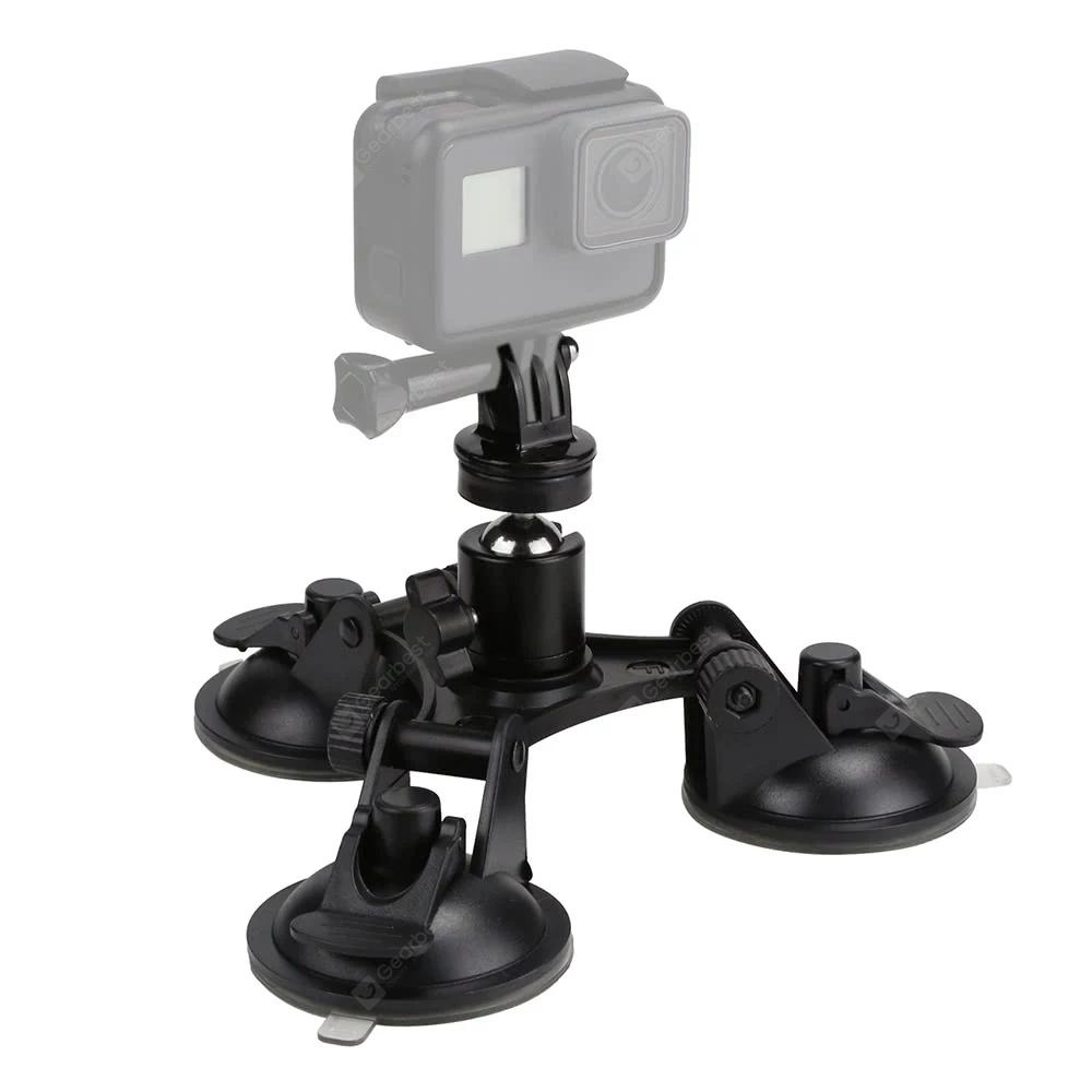 Sports Camera Triple Suction Cup Mount Sucker for GroPro Hero 5/4/3+/3/Xiaomi