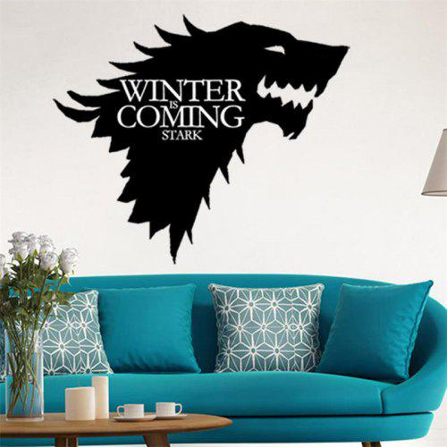 wolf game of thrones wall stickers decorative head window car vinyl