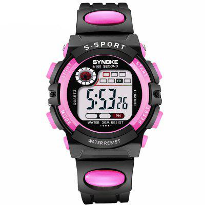 Reloj digital de cuarzo con pantalla LED de SYNOKE Sports Fashion para niños