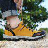 ZEACAVA Sports Leisure Wear Soft Suede Outdoor Hiking Shoes - BROWN