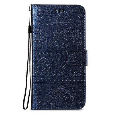 Leather Wallet Stand Flip Case for Xiaomi Redmi Note 5 Pro Elephant Pattern elephant pattern flip pu leather wallet case w stand photo frame for iphone 6 4 7 white blue