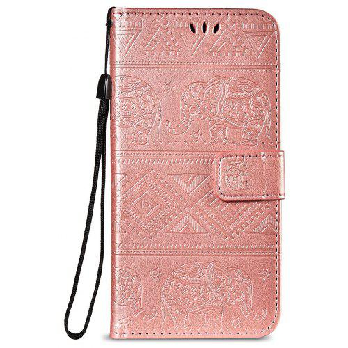 low priced efb42 e8e73 Leather Wallet Stand Flip Case for Xiaomi Redmi Note 5 Pro Elephant Pattern