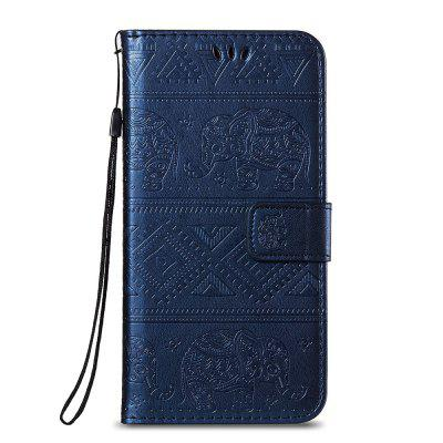 Leather Wallet Stand Flip Case for Huawei P20 Pro Elephant Pattern