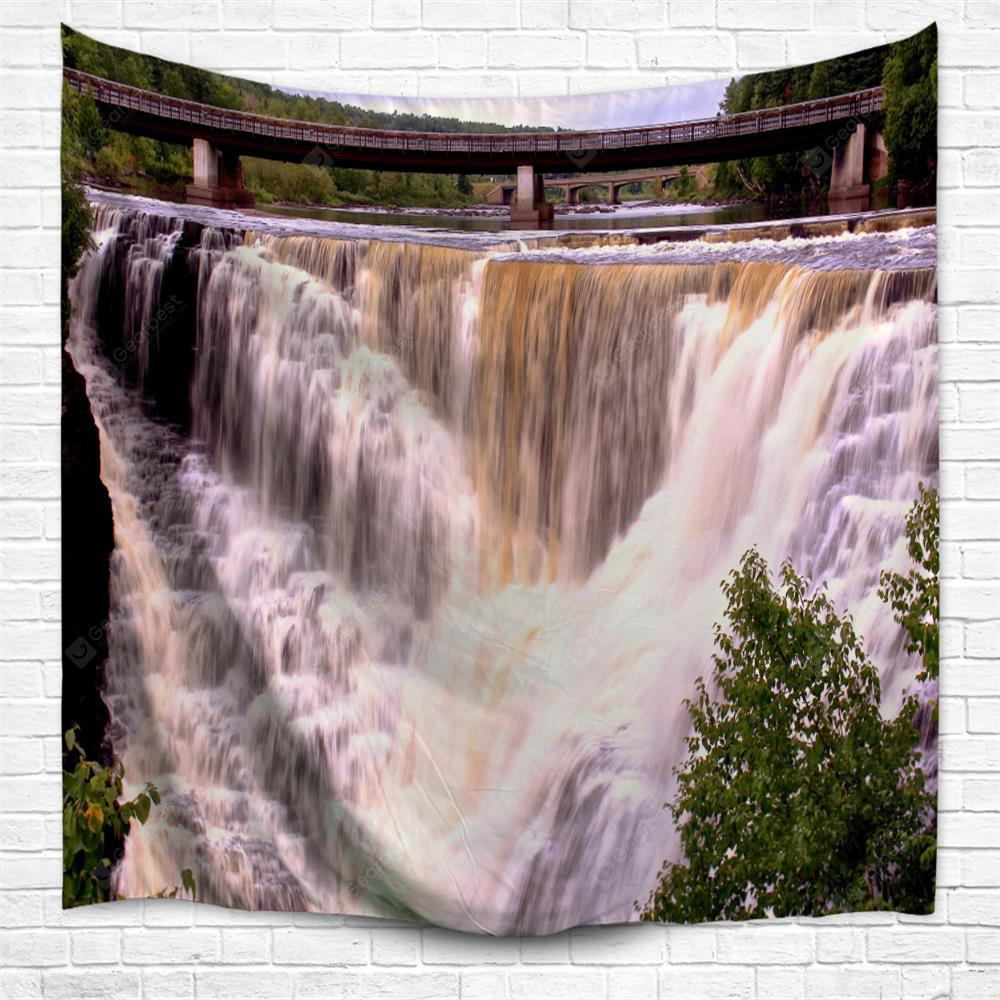 Bridge Falls 3D Printing Home Wall Hanging Tapestry for Decoration