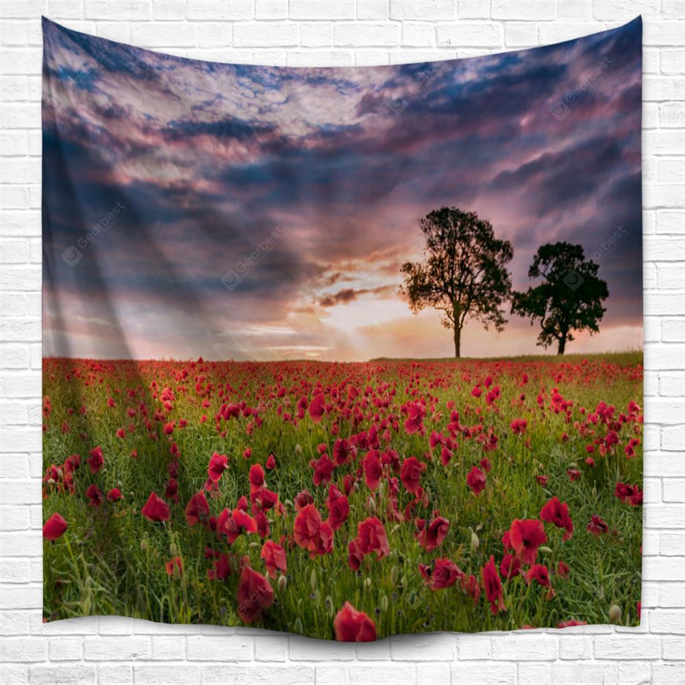 Sunset Flower 3D Printing Home Wall Hanging Tapestry for Decoration