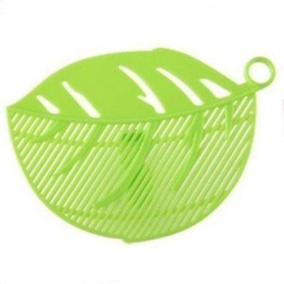 1PC Durable Leaf Shape Rice Wash Sieve Cleaning Gadget Kitchen Filter Clip Tool